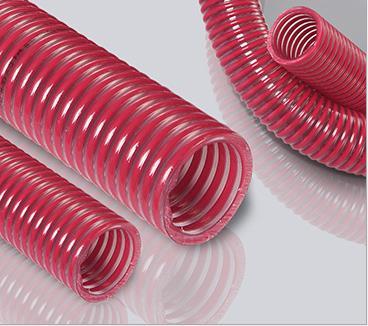 食品级pvc红色塑筋透明软管PS10