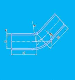 哈尔滨45度硅胶弯管软管EB45