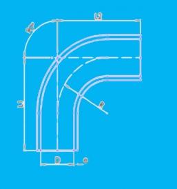 90度硅胶弯管软管EB90