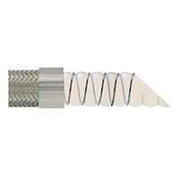 不锈钢编织螺旋平滑食品级特氟龙软管